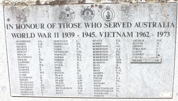 Edenhope War Veterans 1939-1945 and 1962-1973